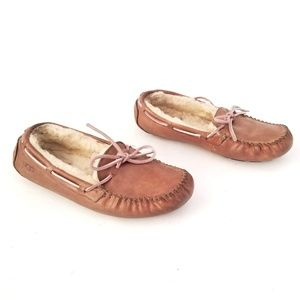 UGG fur lined rubber sole moccasins Size 8-EUR 39